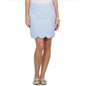 VINEYARD VINES Seersucker Scallop Hem Margo Skirt